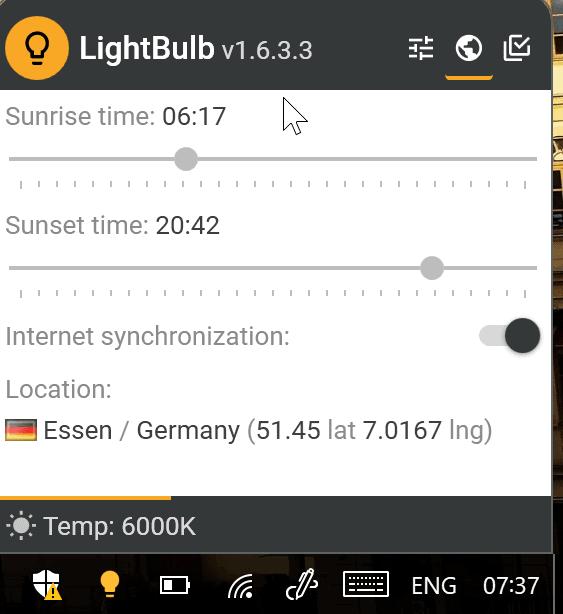 lightbulb location