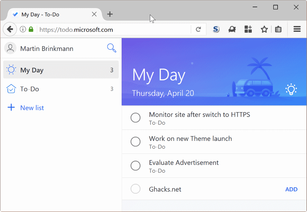 Microsoft To-Do: the end of Wunderlist