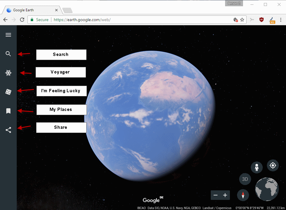 google earth my places location windows 10