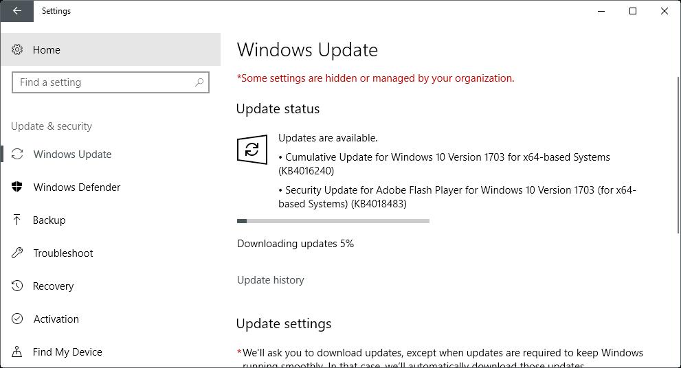 windows 10 update kb4016240