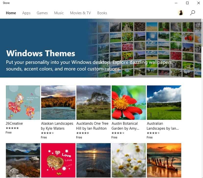 how to download install and remove themes from windows store