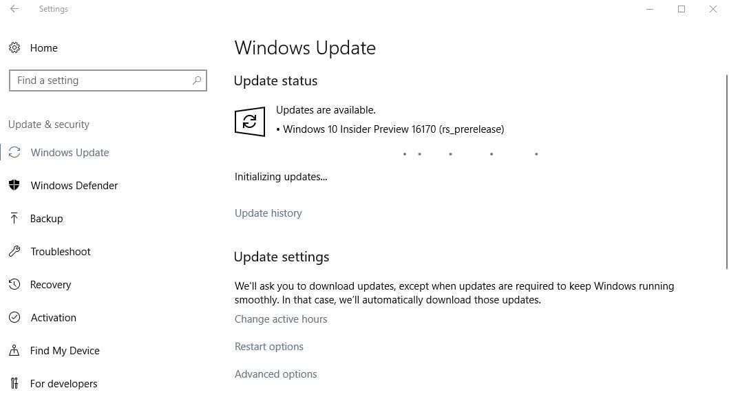 First Post Windows 10 Creators Update build 16170 released