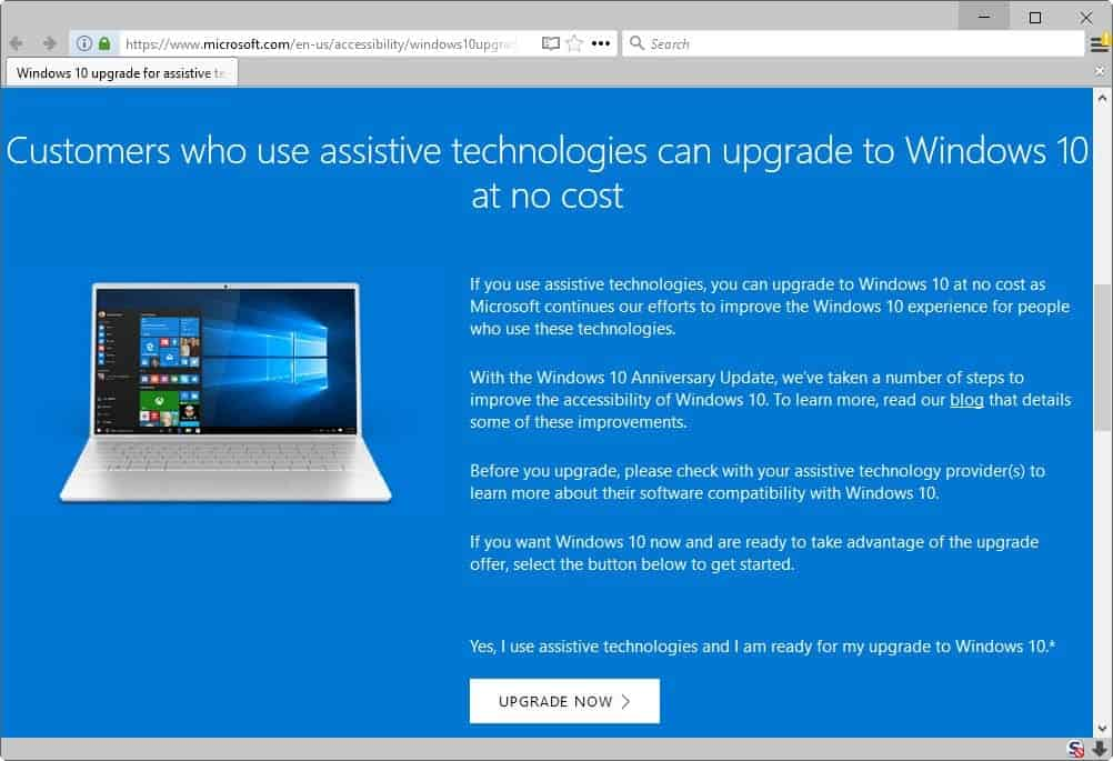 Windows 10 S To Pro Upgrades Free For Accessibility Technology Users
