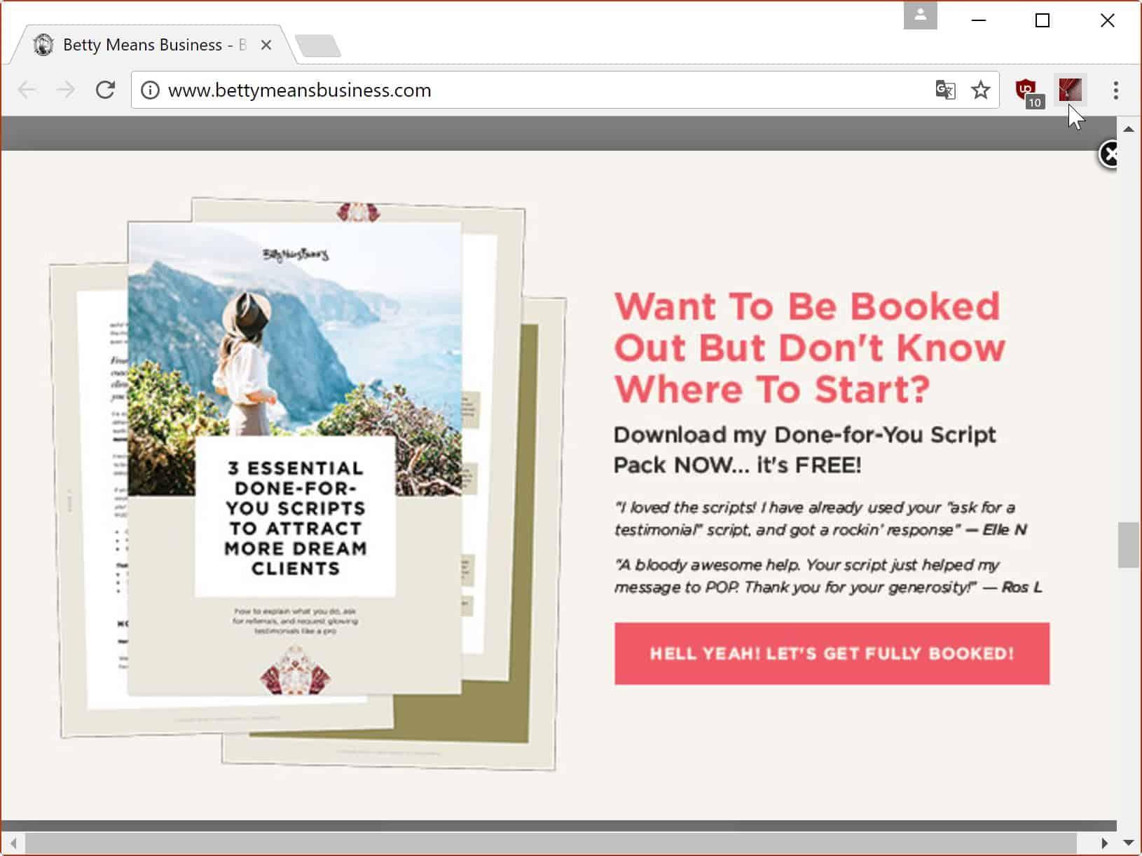 close website overlays
