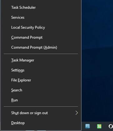 custom windows-x menu