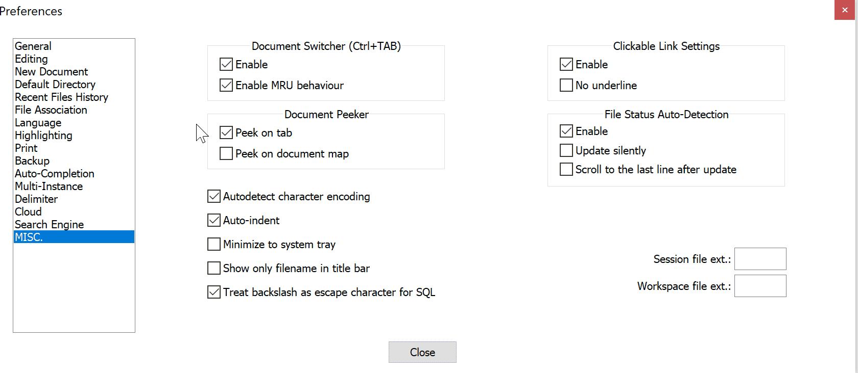 disable document peek