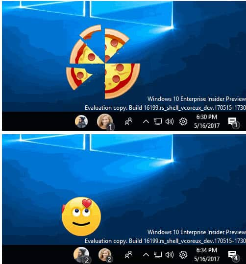 Windows 10 Build 16199: emoji on the desktop, yay!