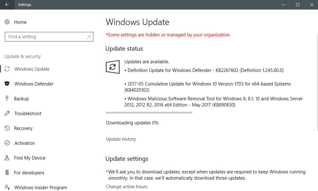 Windows 10 KB4020102 released