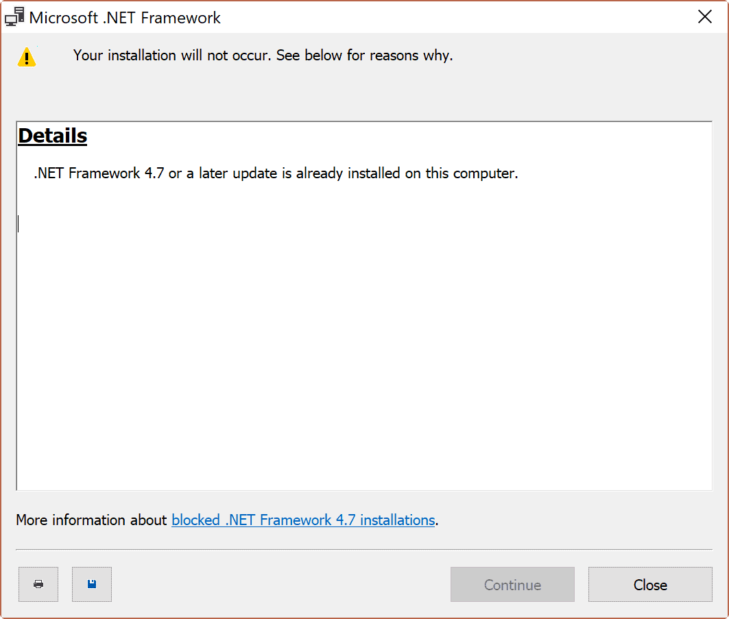NET Framework 4.7 Offline and Online installer