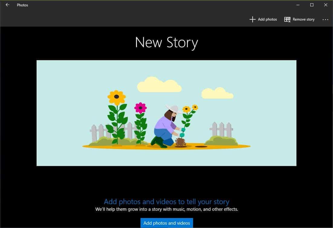 new story start
