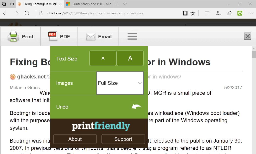 print friendly pdf
