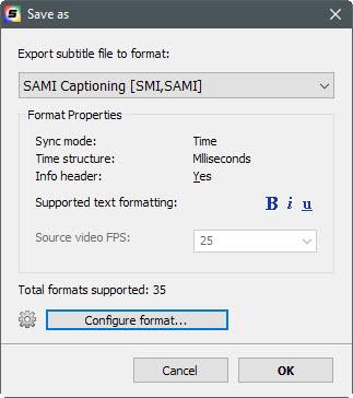 save subtitle