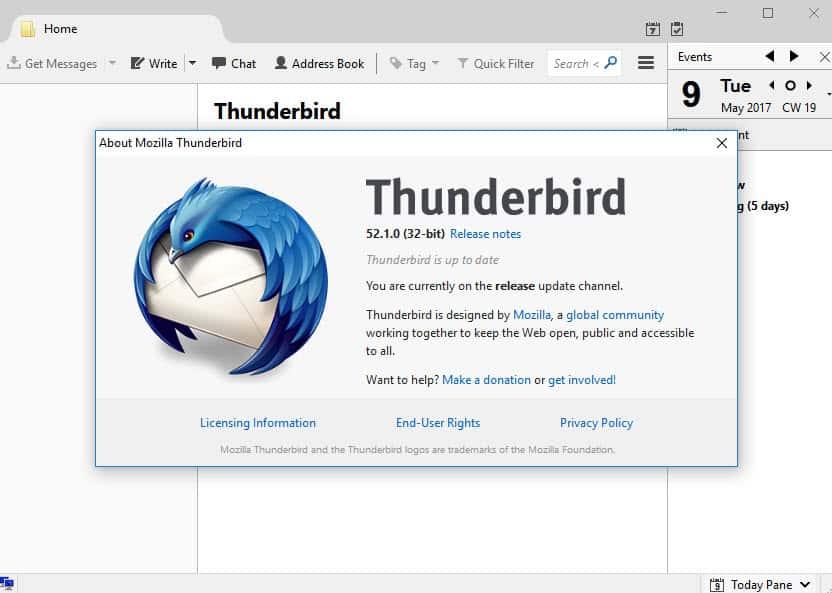 thunderbird new home