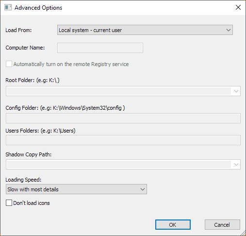 uninstallview advanced options