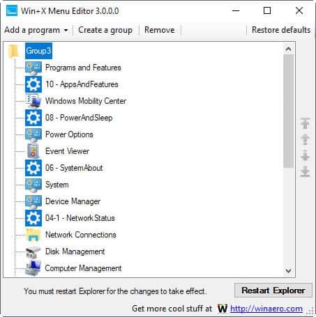 winx menu editor