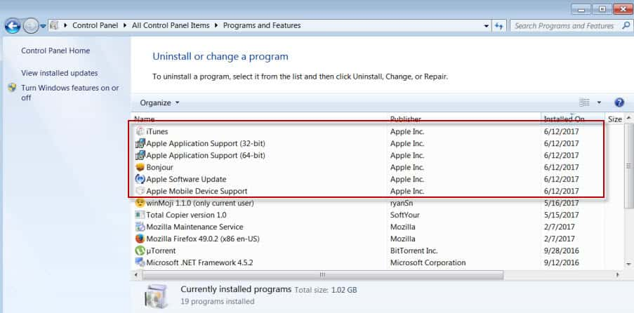 apple itunes software installation