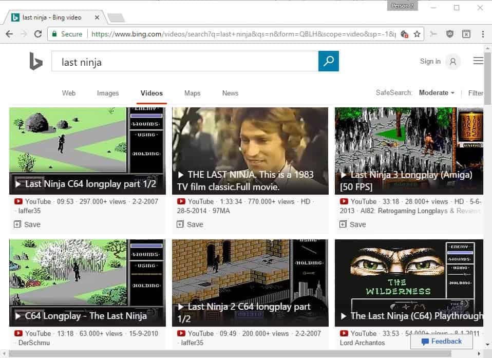bing video search