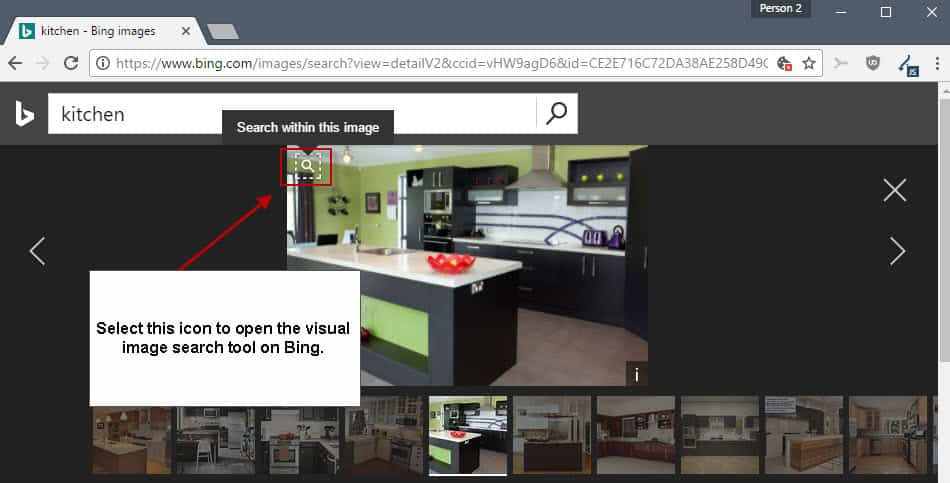 Bing Visual Search: search in images