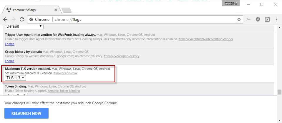 chrome-tls-1.3 How to enable TLS 1.3 support in Firefox and Chrome