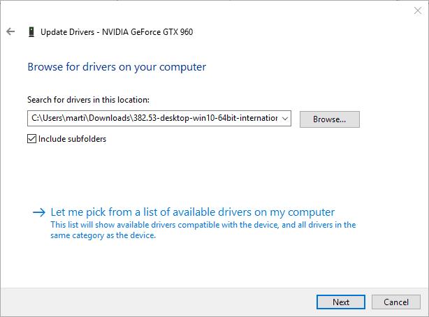 install nvidia driver manually
