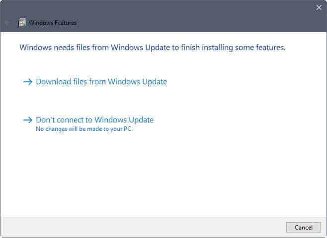 net framework3.5 installation windows update