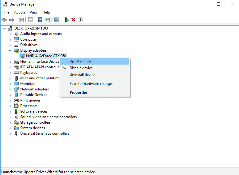nvidia update driver