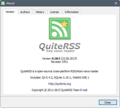 quiterss 0.18.5