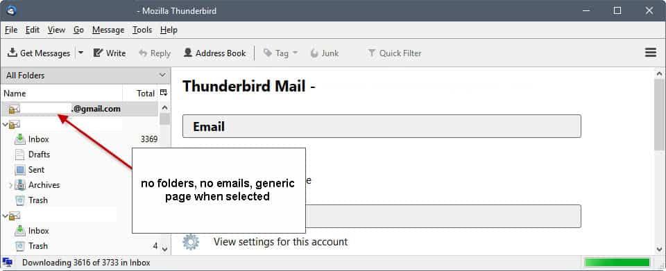 thunderbird imap issue gmail