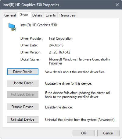 roll back nvidia driver win 10