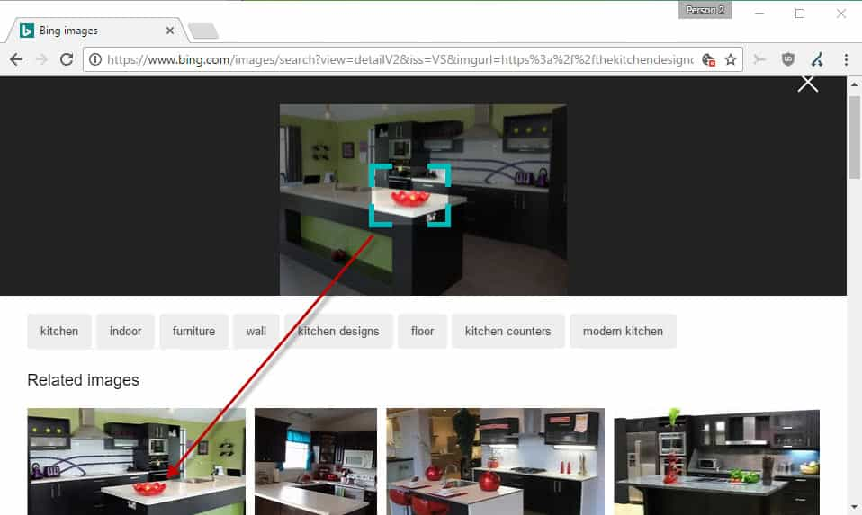 visual-search Bing Visual Search: search in images
