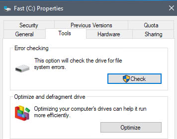 windows check drive