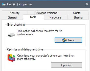 windows check drive