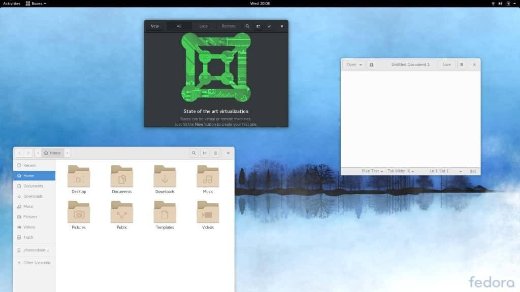 Fedora Desktop Items