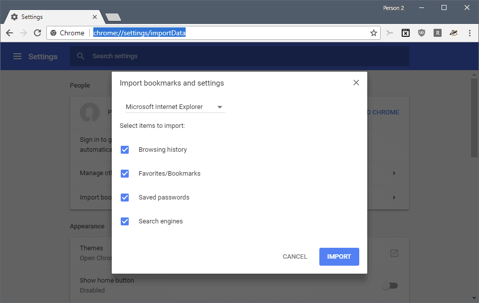 Google Chrome: password export and import - gHacks Tech News