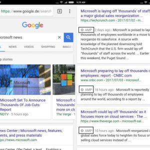 google search amp