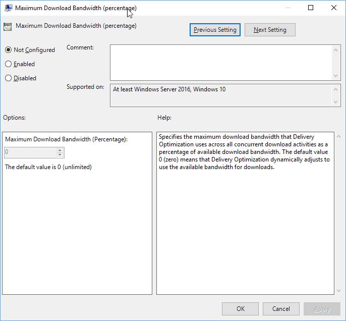 maximum download bandwidth