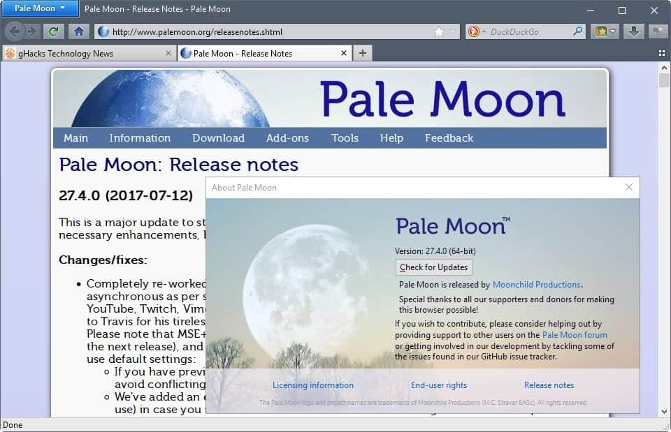 Pale Moon 27.4 is out