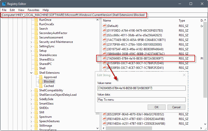 remove cast to device windows 10