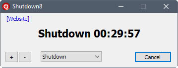 shutdown-timer Shutdown8: shut down, sleep, restart Windows PCs