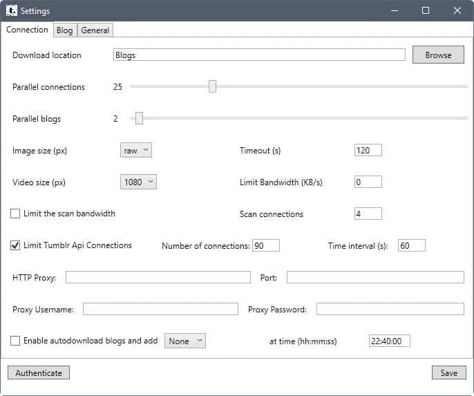 tubmlr download settings