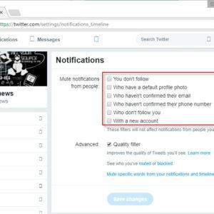 twitter mute new users