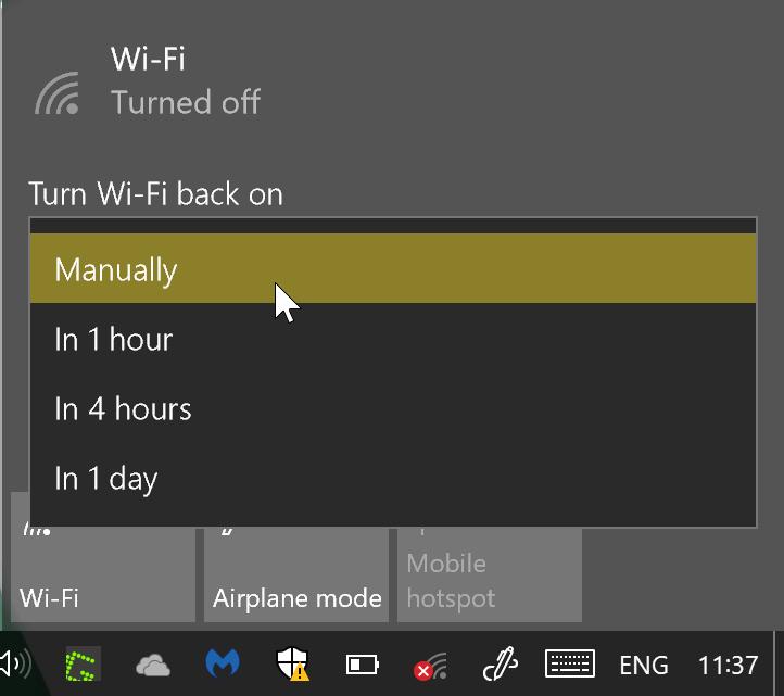 wifi snooze
