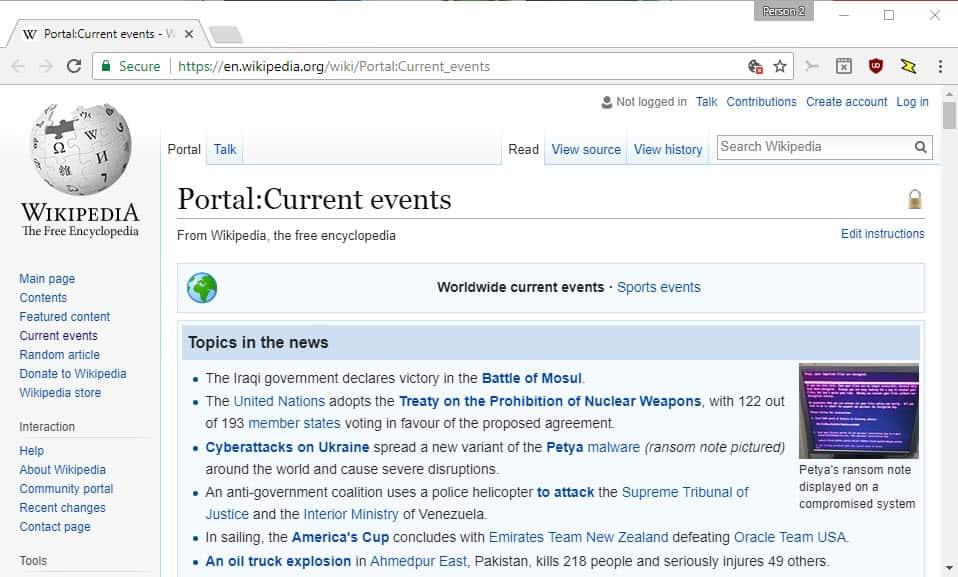 wikipedia-current-events Google News Alternatives