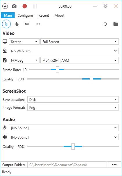 captura desktop recording