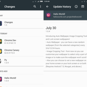 changes android