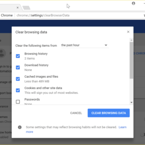 How to delete Chrome's browsing data super quickly - gHacks