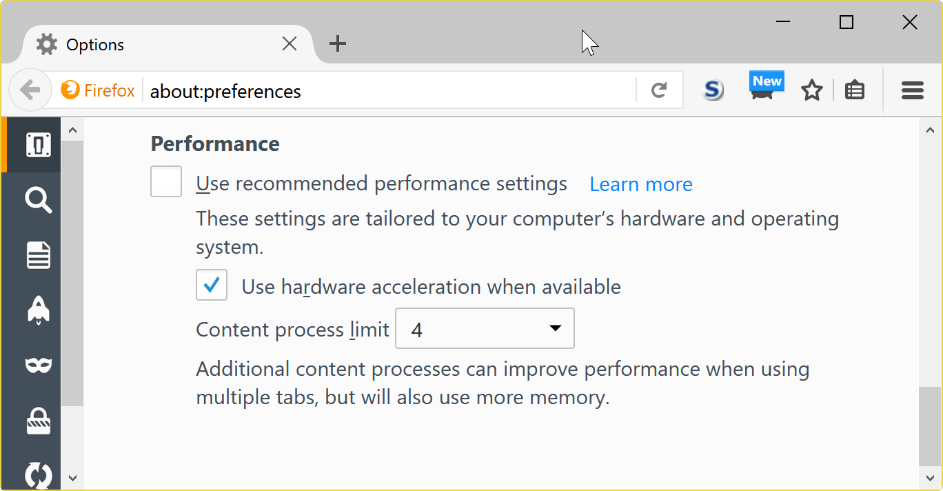 firefox performance settings