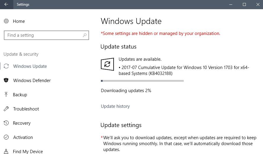 windows 10 1703 kb4032188