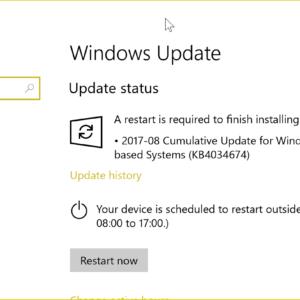 windows update august 2017