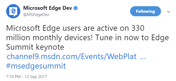edge 330 million devices
